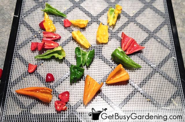 Dehydrating peppers for later use