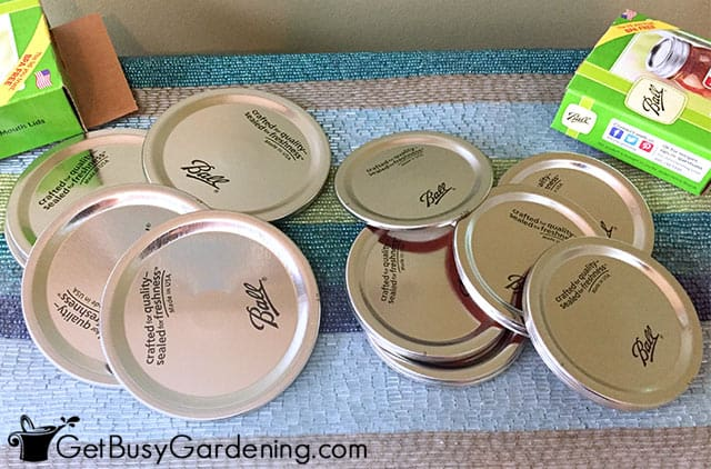 Brand new canning lids