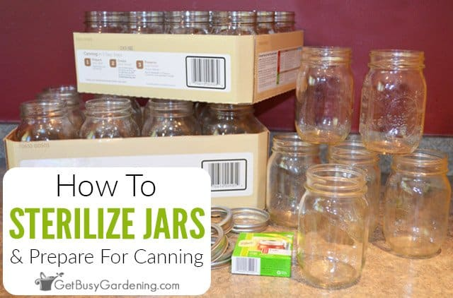How To Prepare & Sterilize Jars For Canning
