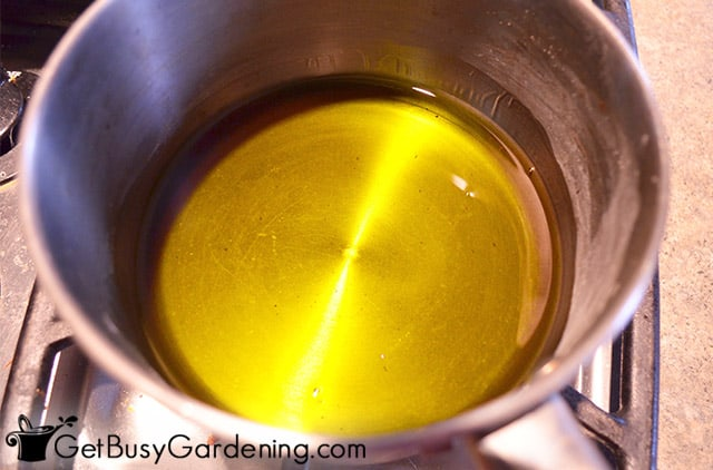 Simmering tincture to remove alcohol