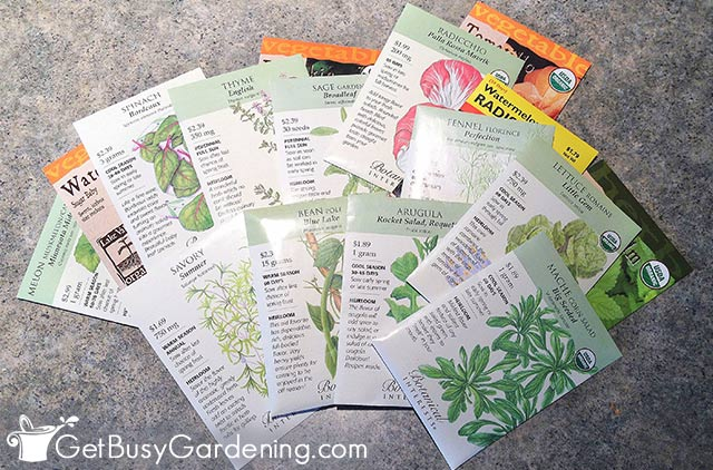 Different types of seeds to grow