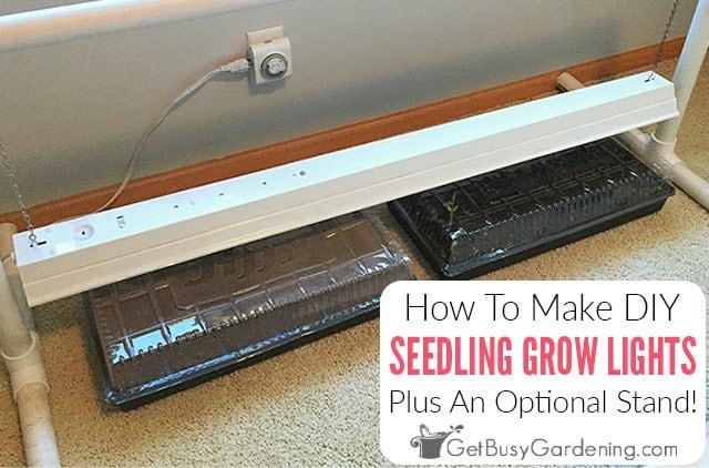 How To Make Easy DIY Grow Lights For Seedlings